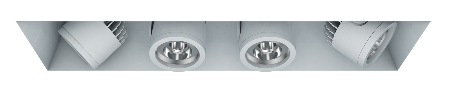 Recessed Trimless – 4 Light